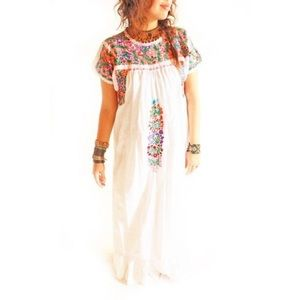Mexican Dress Embroidered Maxi Dress